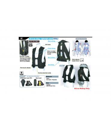 Gilet airbag modèle léger et souple de chez Hit-air