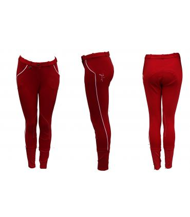 Pantalon d'équitation tradition JMR enfant rouge - blanc
