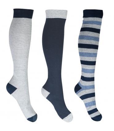 Lot de 3 paires de chaussettes d'équitation microcotton - HKM